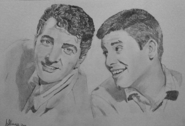 Jerry Lewis, Dean Martin by Lindasart